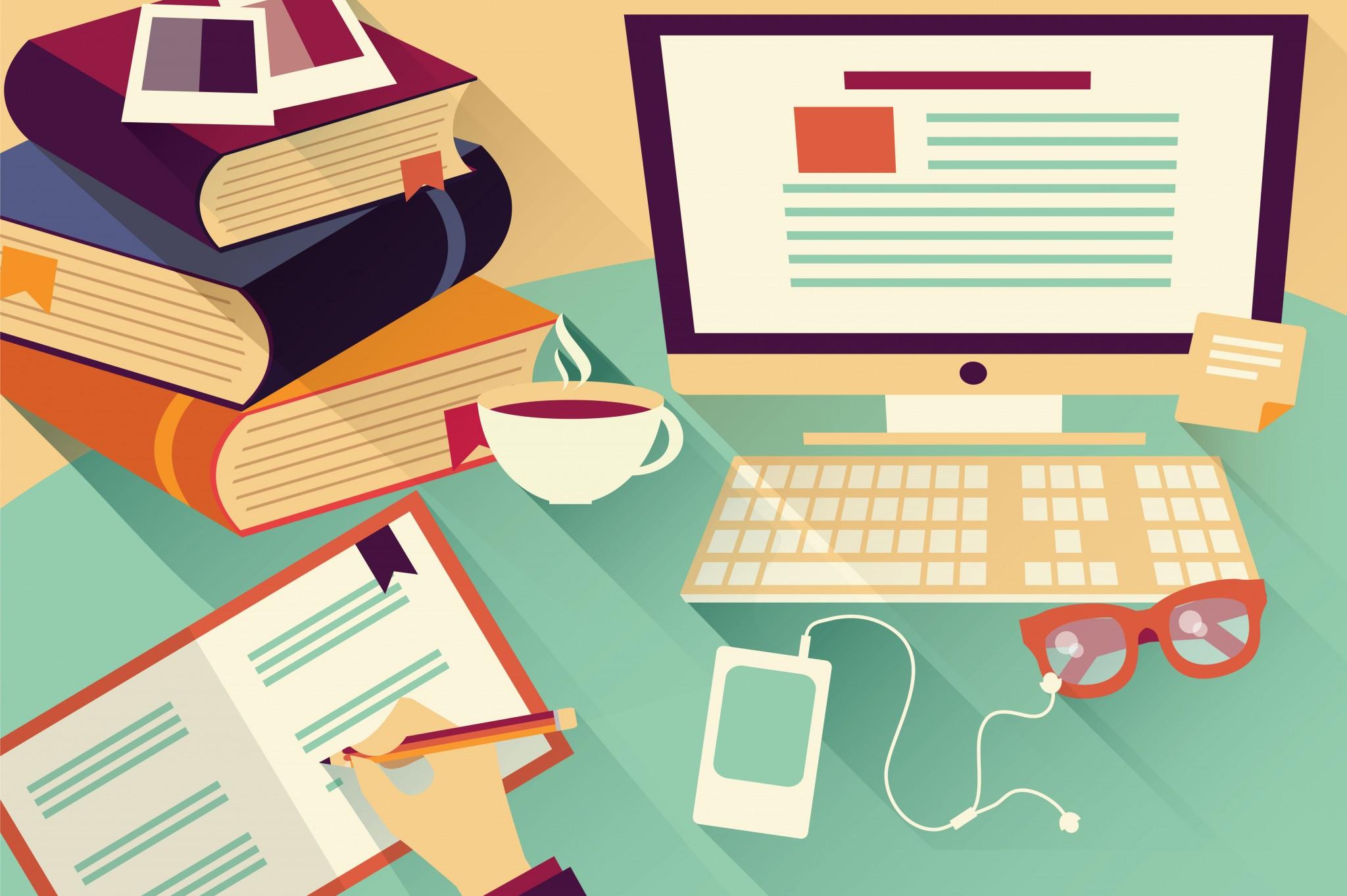 Flat Design Desk 01