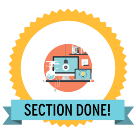 Section completed! Icon